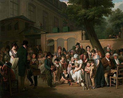 French Village Painting - Entrance To The Jardin Turc by Louis-Leopold Boilly