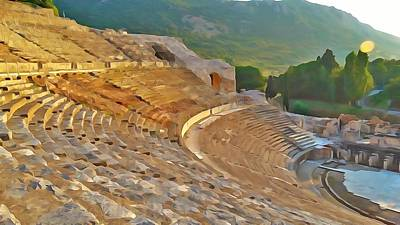 Photograph - Ephesus Theater by Lisa Dunn