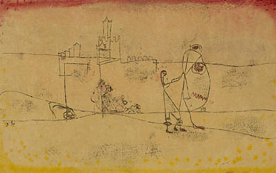 Drawing - Episode At Kairouan by Paul Klee