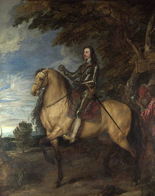 Monarch Painting - Equestrian Portrait Of Charles I by Anthony van Dyck