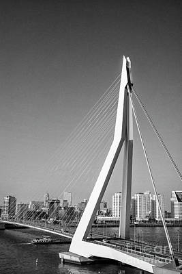 Photograph - Erasmus Bridge In Rotterdam The Netherlands, Europe by Patricia Hofmeester
