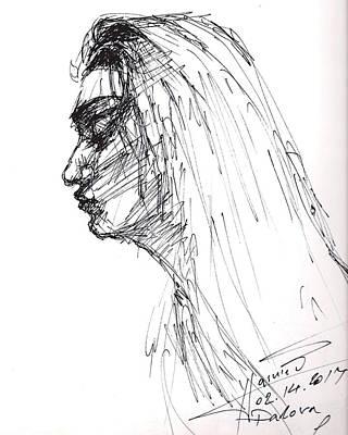 Ink Drawing - Erbora by Ylli Haruni