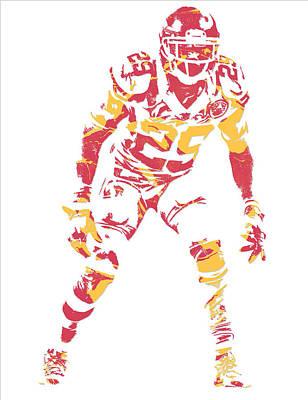 Berry Mixed Media - Eric Berry Kansas City Chiefs Pixel Art by Joe Hamilton