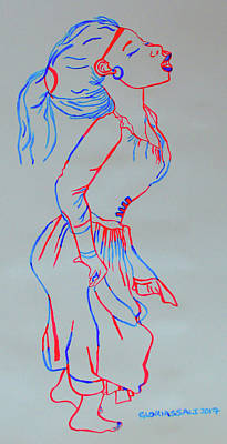 Painting - Eritrean Traditional  Dance by Gloria Ssali