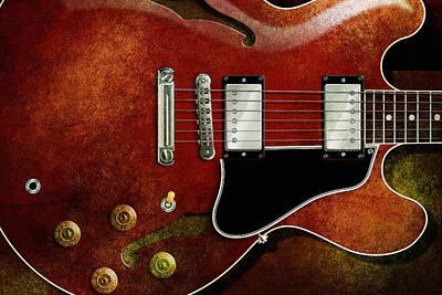 Digital Art - Es 335 Guitar by WB Johnston