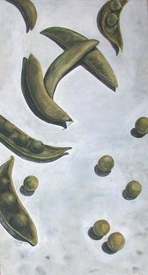 Escaped Peas Art Print by Sandy Clift