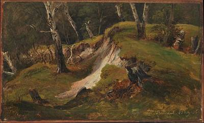 Fearnley Painting - Escarpment With Tree Stumps Romsdal by Thomas Fearnley