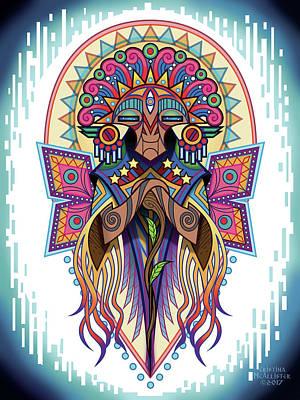 Shaman Wall Art - Digital Art - Espiritu 2 - Elder by Cristina McAllister
