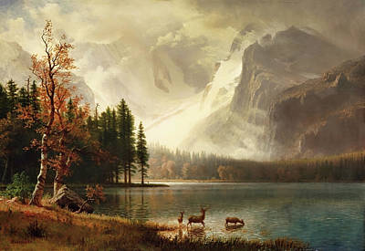 Estes Park, Colorado, Whyte's Lake Print by Albert Bierstadt