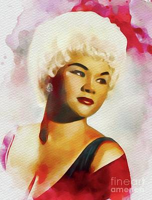 Music Royalty-Free and Rights-Managed Images - Etta James, Music Legend by John Springfield