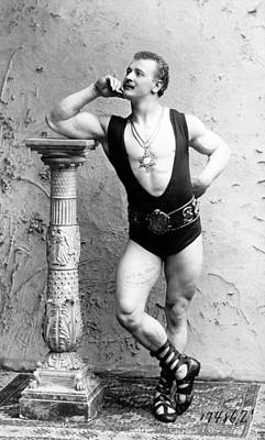 Eugen Sandow 1867-1925 Strong Man Art Print by Everett