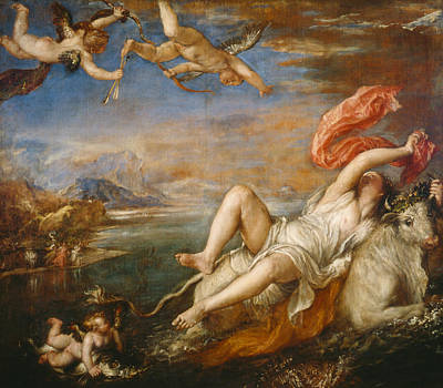 Zeus Painting - Europa by Titian
