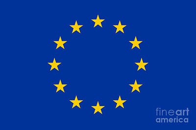 Bicycle Patents - European Union Flag by Frederick Holiday