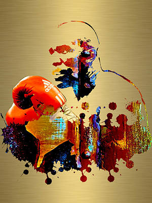 Evander Holyfield Collection Art Print by Marvin Blaine
