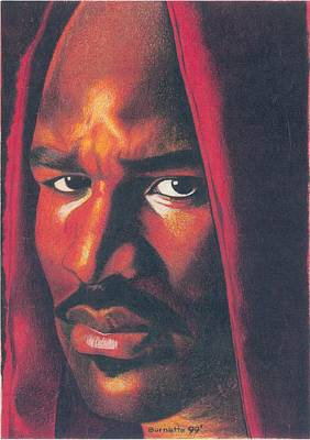 Heavyweight Drawing - Evander Holyfield by Keith Burnette