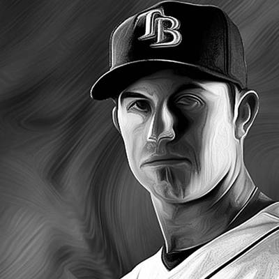 Baseball Photograph - #evanlongoria #evalongoria #lngoria by David Haskett