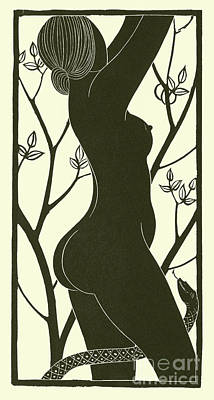 Viper Drawing - Eve by Eric Gill