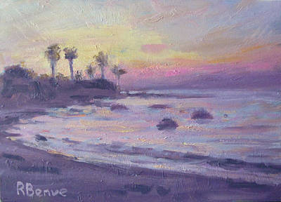 Evening Beach Art Print by Robie Benve