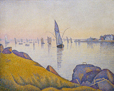 Pointillist Painting - Evening Calm, Concarneau, Opus 220 by Paul Signac