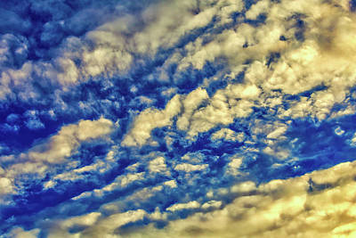 Cirrus Photograph - Evening Clouds by Garry Gay