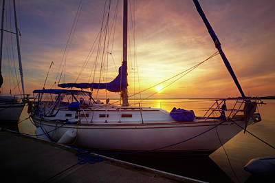 Photograph - Evening Harbor At Rest by Debra and Dave Vanderlaan