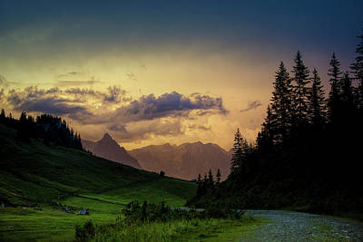 Cloudscape Photograph - Evening In The Alps by Nailia Schwarz