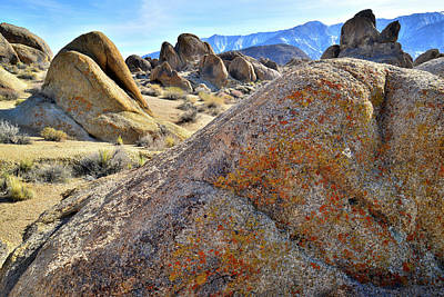 Photograph - Evening Light On The Boulders Of The Alabama Hills by Ray Mathis