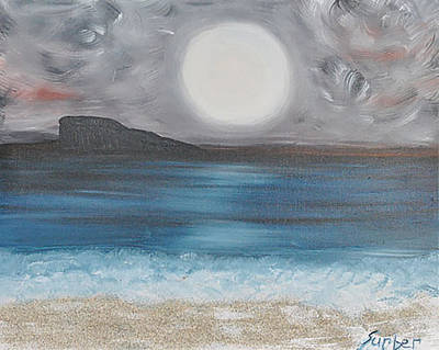Painting - Evening On The Beach by Suzanne Surber