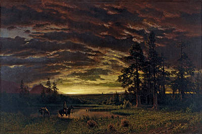 Painting - Evening On The Prairie by Albert Bierstadt