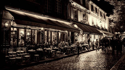 Evening Out - Paris Art Print