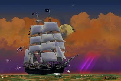 Digital Art - Evening Return For The Elissa by J Griff Griffin