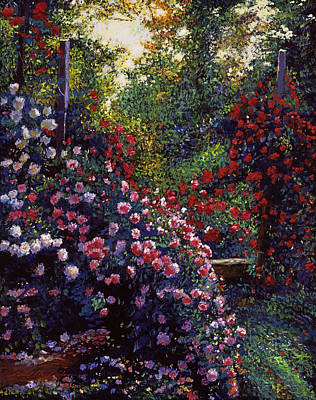 Vines Painting - Evening Roses by David Lloyd Glover