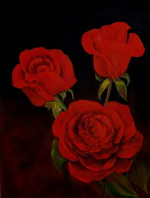 Painting - Evening Roses by Joni McPherson