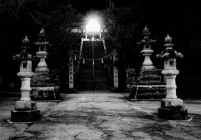Photograph - Evening Shrine by Kohji Asakawa