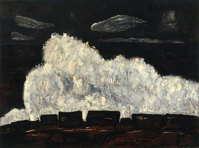 Maine Painting - Evening Storm by Marsden Hartley
