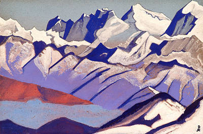 Blizzard Painting - Everest by Nicholas Roerich