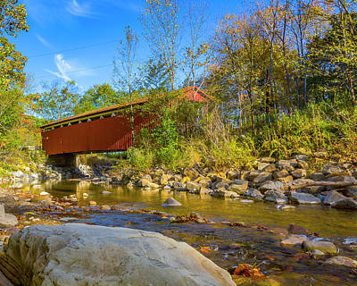 Everett Covered Bridge  Art Print