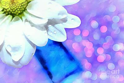 White Flower Photograph - Everlasting Happiness by Krissy Katsimbras