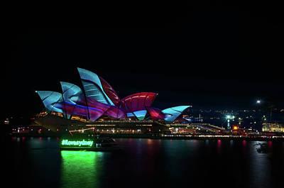 Photograph - Everyone Loves Sydney At Vivid Sydney Festival by Daniela Constantinescu
