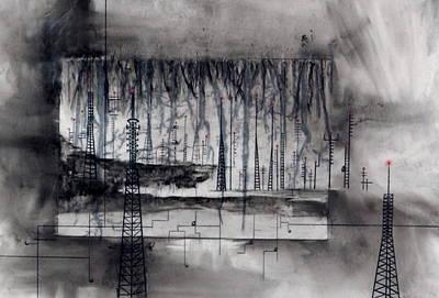 Eviscerating Lines Art Print