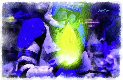 Execute Order 66 Blue Team Commander - Cartoonized Style Art Print by Leonardo Digenio