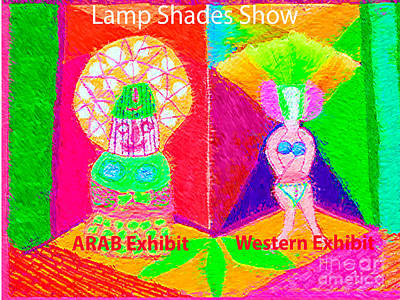 Exhibition Of Lamp Shades Artist View Of Diversity In Lamp Shades From Middle East N Western World Art Print