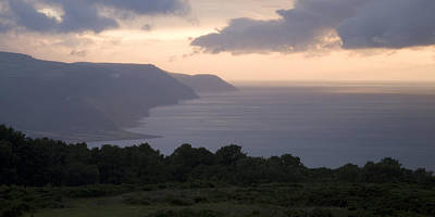 David Bowie - Exmoor coast at sunset by Ian Middleton