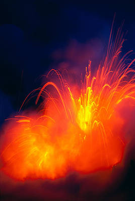 Photograph - Exploding Lava by Greg Vaughn - Printscapes