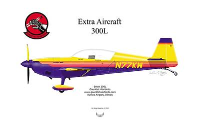 Digital Art - Extra Aircraft 300l by Arthur Eggers