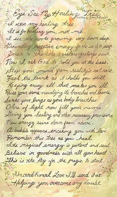 Painting - My Healing Tree Poem by Sheri Jo Posselt