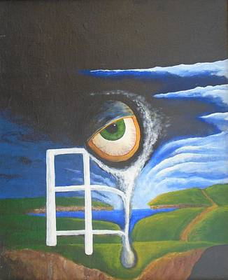 Painting - Eyefence by Steve  Hester