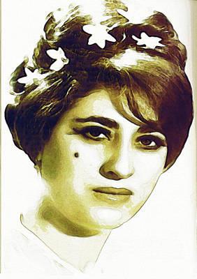 Painting - Eyse San Nemir - Kurdish Folk Singer by Celestial Images