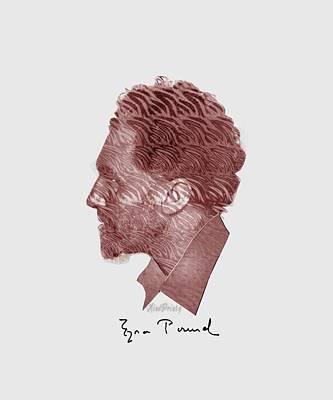 Digital Art - Ezra Pound by Asok Mukhopadhyay