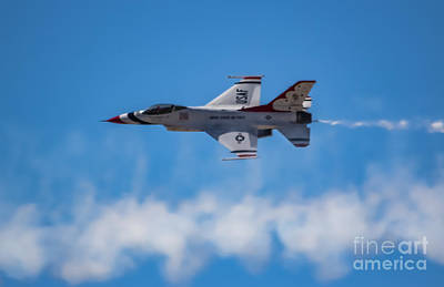 Ambition Photograph - F-16 In The Clouds by Amy Sorvillo
